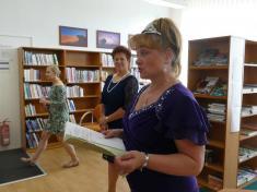 Pasování nových mladých čtenářů vobecní knihovně 21.9.2018