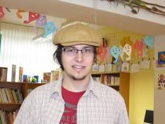 Spisovatel Jan Opatřil besedoval 12.4.2013 sdětmi vobecní knihovně