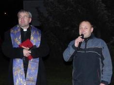 Slavnostní rozsvícení obecního vánočního stromu 29.11. 2014