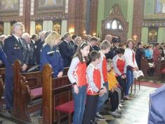 Z tradičního uctění patrona hasičů sv.Floriana