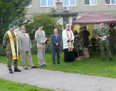 Slavnostní odhalení vzpomínkového místa naválečné veterány 27.9.2017