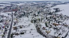 Pohled nazasněžené Ludgeřovice – 19.ledna 2021.
