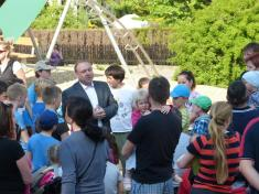 Slavnostní otevření nového dětského hřiště