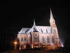 Nasvětlení chrámu sv.Mikuláše - zima 2004