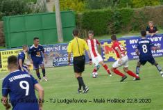 Z prvního letošního mistrovského fotbalového utkání mužstva TJ Ludgeřovice nadomácím hřišti 22.8. 2020