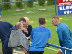 Extraligové fotbalové mužstvo Slovanu Liberec trénovalo 11.5.2018 nahřišti TJ Ludgeřovice