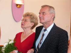Zlatá svatba manželů Marie aJana Nandražských - 12.8.2017