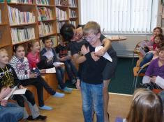 Spisovatelka Lenka Rožnovská vobecní knihovně