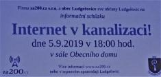 """Informační schůzka kzáměru """"internet vkanalizaci"""" 5.9. 2019"""